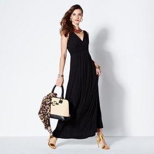 IMAN Maxi Black Sleeveless Dress Medium